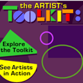 Art tool kit icon