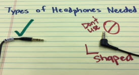 picture of headphone prongs