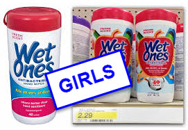 PICTURE OF WET ONES ANTI BACKTERIAL WIPES